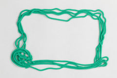 Plasticine frame. Royalty Free Stock Images