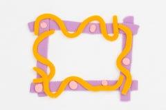 Plasticine frame. Stock Image