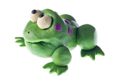 Plasticine frog Royalty Free Stock Image