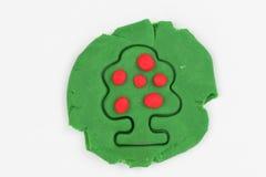 Plasticine fruit tree. Stock Photos