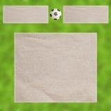 Plasticine-Fußball auf Blättern Lizenzfreie Stockfotos