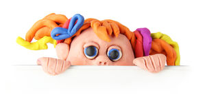 Plasticine girl Royalty Free Stock Images