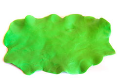 Plasticine green background Royalty Free Stock Images