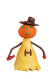 Plasticine halloween. Human like plasticine halloween with bottle and glass isolated on white royalty free stock photos