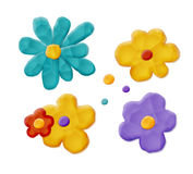 Plasticine Handmade Flowers Stock Photography