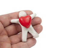 Plasticine heart Stock Photography