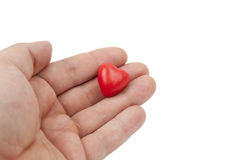 Plasticine heart Royalty Free Stock Photo