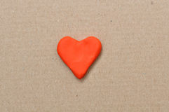Plasticine heart Stock Photography