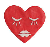 Plasticine heart depicting a deep sleep Royalty Free Stock Image