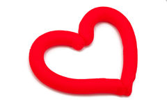 Plasticine heart Stock Image