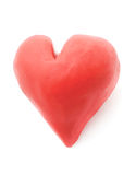 Plasticine heart. Royalty Free Stock Images