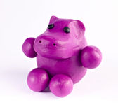 Plasticine hippopotamus Royalty Free Stock Photography