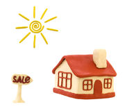 Plasticine house Royalty Free Stock Image