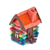 Plasticine house Royalty Free Stock Photo