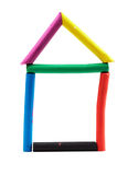 Plasticine House Stock Image