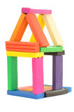 Plasticine house Stock Images