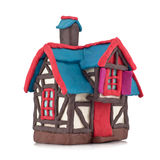 Plasticine house Stock Photo