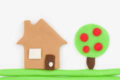 Plasticine  house. Stock Photography