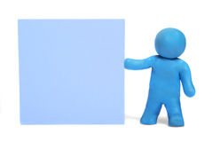 Plasticine human figures Royalty Free Stock Images