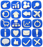 Plasticine icon. Set isolated on a white background Royalty Free Stock Images