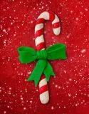 Plasticine illustration of candy cane royalty free stock photography