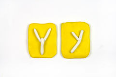 Plasticine letter y Stock Photography