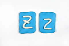 Plasticine letter z Royalty Free Stock Photos