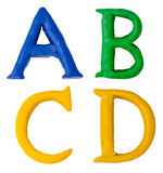 Plasticine letters. Stock Images