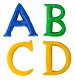 Plasticine letters. Stock Images