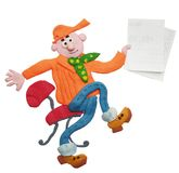 The plasticine little man Stock Images