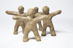 Plasticine little men royalty free stock photography