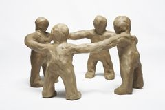 Plasticine little men stock images