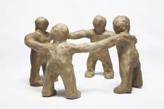 Plasticine little men Stock Images
