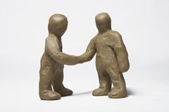 Plasticine little men stock photo