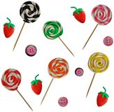 Plasticine lolly pop Royalty Free Stock Photos