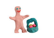 Plasticine man Stock Photo