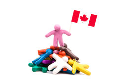 Plasticine man with the Canadian flag Stock Photo