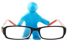Plasticine man with eyeglass Stock Photo