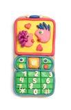 Plasticine mobile telephone Stock Photo