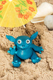 Plasticine monster on the beach Royalty Free Stock Photography