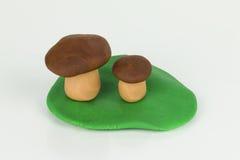 Plasticine Mushroom. Royalty Free Stock Photo