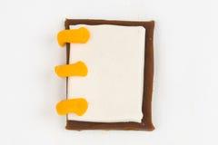 Plasticine notebook. Stock Image