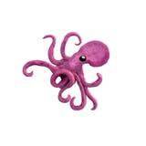 Plasticine Octopus Sculpture Isolated Stock Photo