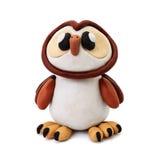 Plasticine owl Royalty Free Stock Photos