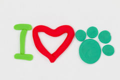 Plasticine paw. Stock Photos