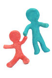 Plasticine people Stock Image