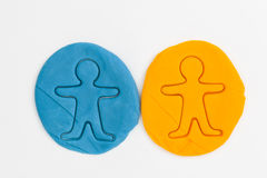 Plasticine people. Royalty Free Stock Image