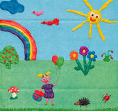 Plasticine picture Royalty Free Stock Photography