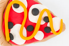 Plasticine  pizza. Royalty Free Stock Photos
