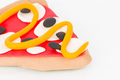 Plasticine  pizza. Stock Image